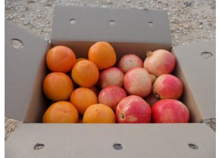 Gemischte Schachtel - 9kg Granatapfel Mollar und Kaki Persimon
